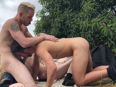 Bi threesome with dante colle, sammy knox & wolf hudson while out hiking, Blonde, Blowjob, Public, Anal, Teen (18+), Small Tits, Bisexual Male, Exclusive, Verified Models videos