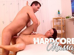 Hardcore massage - skinny milf oiled-up & fucked during massage, Brunette, Cumshot, Small Tits movies at freekiloclips.com