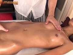 Skinny thai girl gets a full body massage, Asian, Amateur, Brunette, Reality, Teen (18+), Small Tits, Massage, 60FPS movies at freekiloclips.com