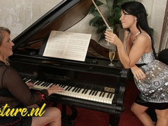 Gorgeous seduced her busty piano teacher, Amateur, Big Tits, Blonde, Fisting, Lesbian, MILF, Pussy Licking, Old/Young tubes