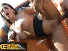 Fake driving school spanish babe has lesson hijacked by faketaxi driver, Babe, Big Tits, Blowjob, Cumshot, Public, Latina, Reality tubes