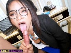 Shemale secretary with big tits tata pleases her boss with anal sex, Asian, Big Ass, Big Dick, Big Tits, Blowjob, Transgender movies at freekilomovies.com
