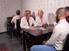 The milf office sluts fucked in all holes in the restaurant!, Orgy, Amateur, Blonde, Cumshot, Hardcore, Mature, MILF, Anal, Verified Models videos