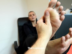 Sexy boss enjoys you (footdom, boss feet, foot worship, pov feet, office feet), Reality, POV, Red Head, Role Play, Feet, Czech videos