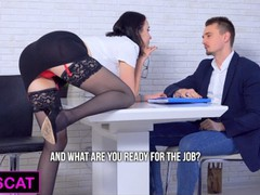 Double penetration with hard anal in office interview for hot brunette / kisscat_4k, Amateur, Babe, Blowjob, Reality, Anal, Teen (18+), Double Penetration, Russian, Verified Amateurs movies at freekilomovies.com
