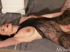Mom surprise office sex with wife in crotchless bodystocking and high heels, Big Dick, Brunette, Hardcore, MILF, Pornstar movies at kilopills.com