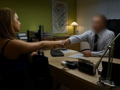 Loan4k. naive chick gets fucked on the desk in the office, Amateur, Brunette, Cumshot, Teen (18+), Casting, Czech movies at find-best-ass.com