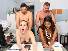 Hot stepdaughters swap stepdads in office, Orgy, Big Dick, Brunette, Cumshot, Hardcore, Pornstar, Red Head, Small Tits tubes