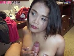 Thai girl with big boobs sucks a japanese man, Asian, Amateur, Big Tits, Brunette, Blowjob, Toys, POV tubes