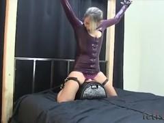 Latex dress sybian bound, Blonde, Bondage, Pornstar, Small Tits tubes