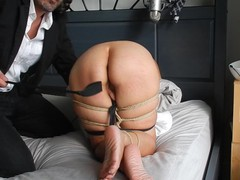 Maestro rope ties and spanks amateur milf marie's ass and feet with a riding crop, Amateur, Babe, Bondage, MILF, Feet, Japanese, Exclusive, Verified Amateurs videos