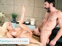 Nurumassage luna star can't stop squirting hard while being spanked & fingered deep, Babe, Big Tits, Blonde, Hardcore, Pornstar, Squirt, Massage tubes