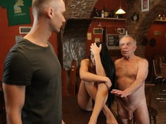 Daddy4k. stocky old man properly fucks sons black-haired gf on table, Brunette, Fetish, Pornstar, Teen (18+), Czech, Old/Young movies at nastyadult.info