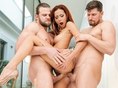 Dpfanatics horny veronica leal cut the meeting short to be double-destroyed, Babe, Big Dick, Blowjob, Hardcore, Pornstar, Anal, Red Head, Threesome, Double Penetration tubes