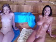 Shalina devine babe gets anal banged in the sauna by mugurporn, Big Dick, Big Tits, Blonde, Brunette, Public, Pornstar, Anal, POV, Threesome movies at freekiloclips.com