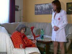 Chubby grannma and her girlfriend bbw nurse have big fun movies at kilopics.net