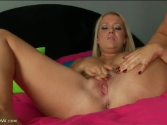 Mom alone in bed masturbates her hot cunt movies at kilopics.net