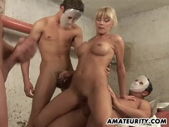 Amateur girlfriend anal gangbang with facials movies at kilopills.com