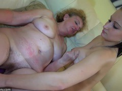 Old dirty granny and her favorite toy play in the bed movies at find-best-mature.com
