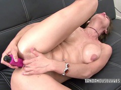 Horny milf trixie is fucking her ass with a dildo movies at sgirls.net