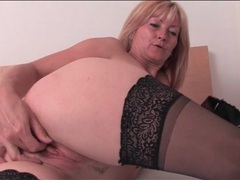 Pretty blonde mature in sexy stockings masturbates movies at find-best-babes.com