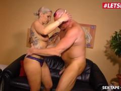 Letsdoeit - horny german blonde rides step-daddy's cock on tape, Big Ass, Blonde, Blowjob, Rough Sex, German videos