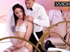 Wicked - petite bride avi love fucked in wedding dress, Brunette, Blowjob, Latina, Pornstar, Small Tits, Rough Sex movies at find-best-panties.com
