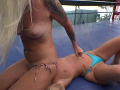 Sexy blonde wrestler with a perfect ass dominates and humiliates blonde rival and sits on her face, Blonde, Fetish, Handjob, Mature, Old/Young movies at freekiloclips.com