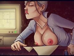 Regular office routine and bad ass artur, Big Dick, Brunette, Hardcore, Cartoon videos
