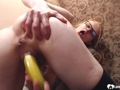 Astonishing stepmom uses a banana on her cunt, Amateur, Masturbation, Mature movies at find-best-videos.com