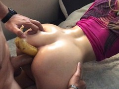Caught her playin with banana n` made her dp w/t anal, Amateur, Blonde, Cumshot, Anal, Teen (18+), 60FPS, Exclusive, Verified Amateurs movies at find-best-panties.com