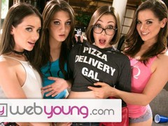 Lesbian sorority-sisters eat out with the pizza delivery girl, Babe, Big Tits, Brunette, Lesbian, Pornstar, Reality, Teen (18+), Small Tits, Popular With Women, Pussy Licking tubes