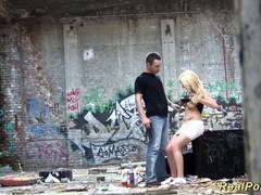 German deepthroat in the ghetto, Amateur, Blonde, Teen (18+), German videos