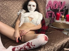 Teen girl masturbates for halloween in sexy angel outfit and cums loudly from dildo. (4k video), Amateur, Masturbation, Teen (18+), Role Play, Verified Amateurs, Cosplay movies at kilopills.com