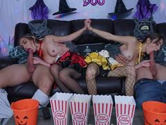Halloween cosplay daddy swap sex, Orgy, Big Dick, Cumshot, Hardcore, Pornstar, Teen (18+), Small Tits, Cosplay movies at dailyadult.info