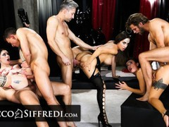 Roccosiffredi they get double-destroyed in a vip halloween party, Orgy, Bondage, Blowjob, Hardcore, Pornstar, Anal, Double Penetration, Role Play, Pussy Licking movies at freekilomovies.com