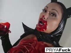 Halloween bloody tease with indian milf priya rai, Big Ass, Babe, Big Tits, Indian videos