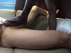 Panty Stocking FOOT JOB with Oil Masssge(side Cam)ストッキングにぶっかけ足こき(サイドカメラ), Asian, Cumsho movies at freekiloclips.com