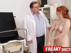 Pale skin czech redhead samantha medical doctor check-up, Amateur, Fetish, Toys, Red Head, Czech, Old/Young tubes