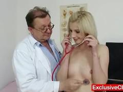 Slim blonde mia hilton kinky vagina medical exam, Blonde, Fetish, Pornstar, Teen (18+) tubes