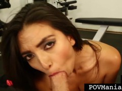 Hot mexican pornstar frida sante gives cock workout at gym!, Babe, Brunette, Blowjob, Handjob, Hardcore, Pornstar, POV, Red Head, Small Tits movies at kilopills.com