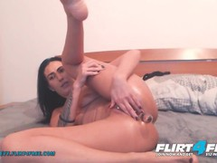 Evelyn evy on flirt4free - sexy brunette with pierced pussy fingers her ass when she cums, Amateur, Masturbation, Toys, Anal, Teen (18+), Small Tits, Webcam movies at kilopills.com