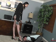 Tall beautiful office bully - rocky emerson - femdom, Babe, Brunette, Fetish, Pornstar, Pussy Licking movies at find-best-ass.com