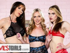 Devilstgirls sexy trans babes fucked their roommate's pussy, Blowjob, Reality, Anal, Threesome, Double Penetration, Transgender videos