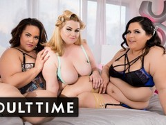 Adult time lucky guy with 3 gorgeous bbws in lingerie, Big Ass, BBW, Big Dick, Big Tits, Brunette, Hardcore, Squirt, Pussy Licking videos