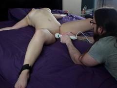 Bdsm training with vibrator torture and shaking orgasms, Amateur, Bondage, Cumshot, Toys, Feet, Exclusive, Verified Amateurs movies at freekilomovies.com