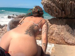 Horny girl want his dick in a public beach and take a big facial, Amateur, Blowjob, Cumshot, Public, Teen (18+), POV, Verified Models tubes