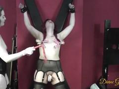 Tits, pussy & clit torture for bondage sub girl, Bondage, Brunette, Fetish, Hardcore, Red Head, Small Tits, Transgender, British, Exclusive, Verified Models movies at kilopills.com