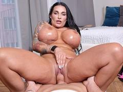 Monster boob milf pov fucked, Big Dick, Big Tits, Handjob, Hardcore, MILF, Rough Sex, German movies at freekilosex.com