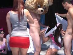 Dancing bear - lascivious ladies with loose morals sucking & fucking during cfnm parties!, Orgy, Big Ass, Big Dick, Blowjob, Hardcore, Interracial, MILF, Pornstar, Party movies
